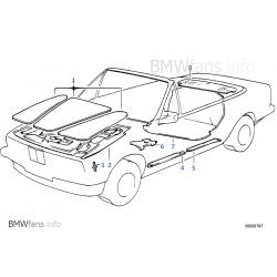 Satz Schallisolierung Motorhaube