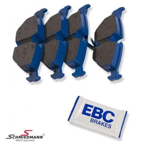 Sportsbremsbeläge hinten EBC blue NDX (Rennstrecke) zu M3 E30, E36, E34, E32