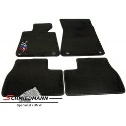 Fussmatten vorne/hinten mit -Motorsport- Logo schwarz ohne Cabrio